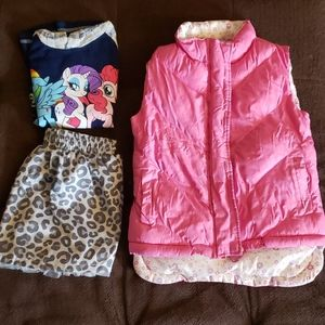 3 piece lot of girls size 4 clothes